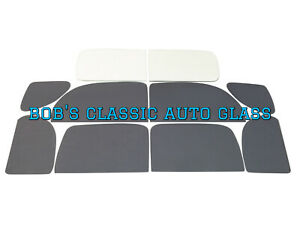1937 1938 Ford Club Coupe Classic Auto Glass New Vintage 2dr Flat Windows 2 Door