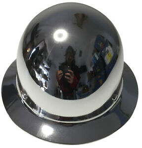Hard Hat Msa Skullgard Full Brim Custom Chrome W Free T shirt