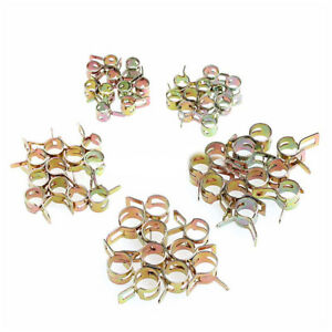 50x Spring Clip Fuel Water Pipe Line Hose Air Tube Clamps Fastener 5 6 7 8 9mm