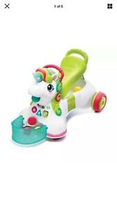 Super Cute fun And Exciting Smilin Shimmer 3 in 1 Sit walk Ride Unicorn with