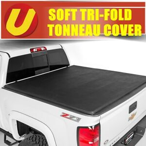 Fits 2007 2013 Chevy Silverado 6 5ft 78in Bed Vinyl Tri Fold Tonneau Cover