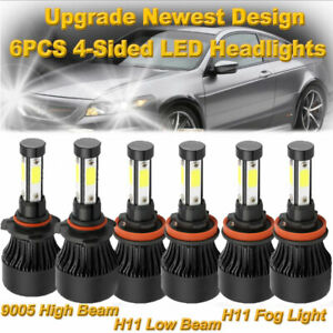 For Honda Accord 2013 2014 2015 2700w Combo Led Headlight Kit High Low Fog Bulbs