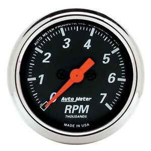 Autometer 1477 Designer Black In dash Electric Tachometer