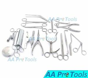 Set Of 16 Pcs ent Ear And Nose Instruments Forceps Vienna Nasal Speculum