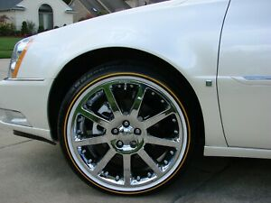4 New 245 35r 20 Inch Vogue Tires Custom Built Mayonnaise Mustard Low Profile