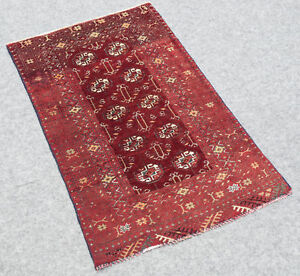 Antique Rug Afghan Mouri Bukhara 2 3x3 8 Hand Knotted 100 Wool Pile Throw Rug