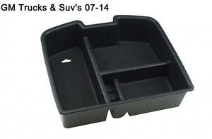 Salusy Center Console Armrest Storage Box Insert Organizer Tray For Gmc Trucks