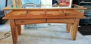 Retail Store Display Table W Drawers Pine Glass Chico s Rare Or One Of A Kind
