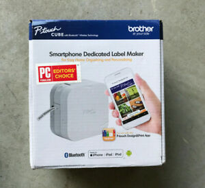 Brand New Brother P touch Cube Smartphone Label Maker With Bluetooth White