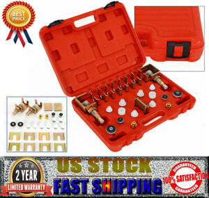 Universal Auto Air Condition Flush Fitting Adapter Kit Leak Maintenance Tool Set