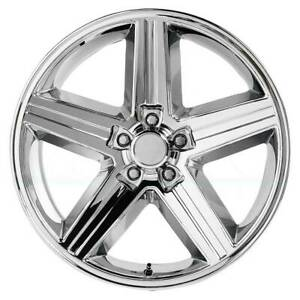 4 new 20 Replica V1129 Iroc Wheels 20x8 5x120 65 0 Chrome Rims