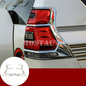 For Toyota Prado Fj150 Abs Chrome Rear Tail Light Lamp Trim Cover 2pcs 2018 2019