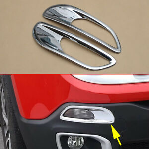 Front Bumper Turning Light Car Parts Cover For Jeep Renegade Chrome Accessories