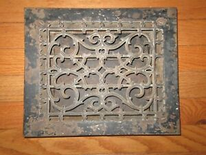 Vintage Cast Iron Floor Register Heat Grate Vent 8 X 10 W Louvers Antique