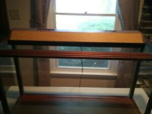Wood And Glass 36 Multi use Display Case With Light Reduced To 45