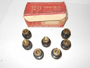 Nos Air Compressor Tool Hose Couplings Lot Of 7 Fowler Pem Brand B2x 1 2 Thread