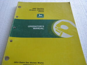 John Deere 680 Chisel Plow Manual