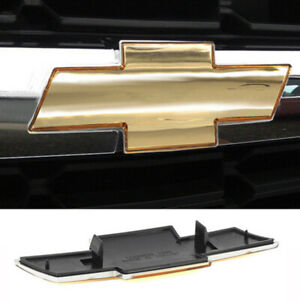 Chevy Silverado Suburban Tahoe Grille Emblem New Front Grill Gold Badge Logo Us