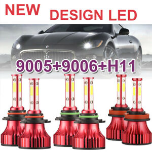Combo 4side 9005 9006 h11 Cree Led Headlight Bulbs 6000w 600000lm Hi Low 6000k