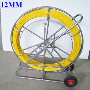 12mm 250m Fish Tape Fiberglass Wire Cable Running Rod Duct Rodder