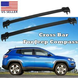Aluminum Roof Rack Baggage Cargo Carrier Cross Bars For Jeep Compass 2017 2018
