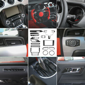 20x Full Set Interior Decoration Trim Accessories Kit For 2015 2019 Ford Mustang