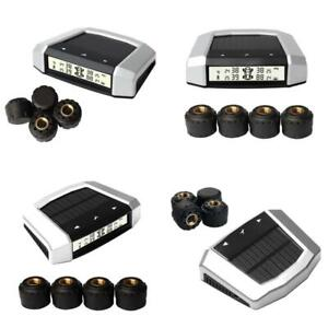 Car Tire Pressure Monitoring System Wireless Tpms Rv With 4 External Sensor Tool