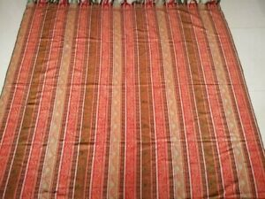 Antique French Paisley Kashmir Square Piano Shawl Size69 X69 Multicolor Strips
