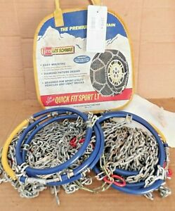 Les Schwab Quick Fit Sport Tire Snow Chains Stock 2319 s Used