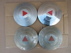 1950 1954 Hudson Hubcap Set 4 Oem Chrome Commodore Super Wasp Pacemaker 1952 53