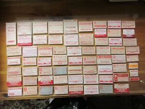 65 Old All Poison Pharmacy Apothecary Medicine Bottle Labels Nice