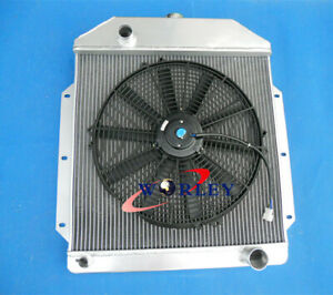 3 Row Aluminum Radiator 16 fan For Ford V8 Cars 1949 1953 1950 1951 1952 Mt