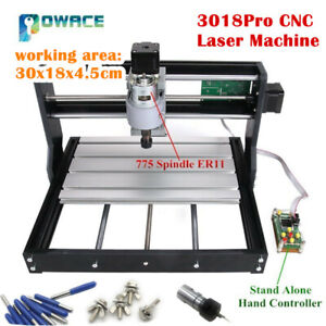 Cnc 3018 Pro Grbl Er11 3 Axis Diy Mini Pcb Wood Milling Laser Engraver Machine