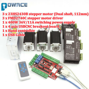 3 Axis Nema23 Stepper Motor 112mm 425oz in fmd2740 Driver Usb Cnc Controller Kit