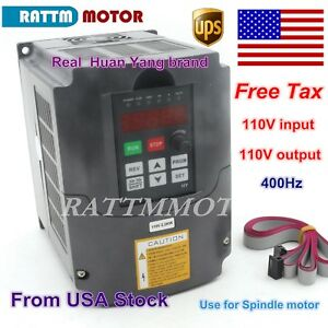 us 2 2kw 110v Vfd Inverter 3hp Variable Frequency Drive 20a Vsd C