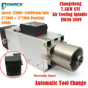 7 5kw 380v Atc Automatic Tool Change Spindle Air Cooling Spindle Iso30 24000rpm