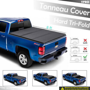 For 2007 2013 Gmc Sierra 1500 2500hd 3500hd 8 Ft Bed Hard Tri Fold Tonneau Cover