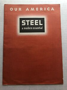 1944 Coca Cola Our America Student Booklet for Steel