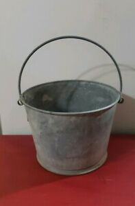 Vintage Xl Galvanized Water Pail Bucket Heavy Guage Garden Farm 4 5 Gl