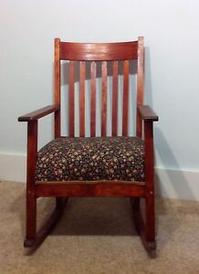 Vintage Arts Crafts Mission Rocker Rocking Chair