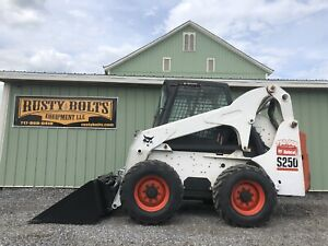 2009 Bobcat S250 Skid Steer Loader Enclosed Cab Heat Ac 2183 Hrs Cheap Shipping