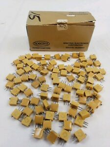 Lot Of 93 Pcs Spectrol 8223 64y 102 Side Control Trimmer Trim Pot Potentiometer
