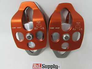 2 Pack 3 4 Double Pulley 3 4 Capacity Arborist Climbing Rigging 35kn 7 800lb