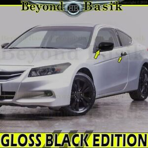2008 2012 Honda Accord 2dr Coupe Gloss Black Door Handle Covers mirror Overlays