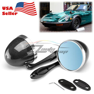 Universal Real Carbon Fiber Hotrod Muscle Car Vintage Side Mirror Both Side