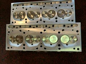 Edelbrock 60599 Performer 72cc Rpm Cylinder Head Complete Pair For Pontiac