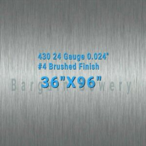 430 Stainless Steel Sheet Wall Covering 4 Brushed 24 Gauge 0 024 36 X 96