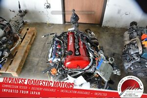 Jdm Sr20det Red Top S13 89 93 240sx Nissan Engine 2 0 5spd S14 Turbo Downpipe