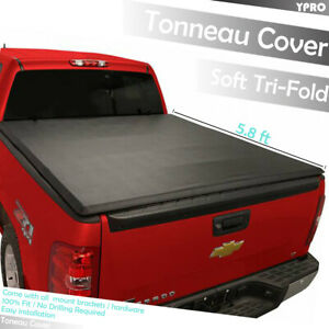 Tri Fold Tonneau Covers For 2007 2013 Gmc Sierra 1500 2500hd 3500hd 8 Ft Bed