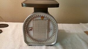 Pelouze Y 50 Mechanical Shipping Or Kitche Scale 50lb Capacity 2oz Increments
